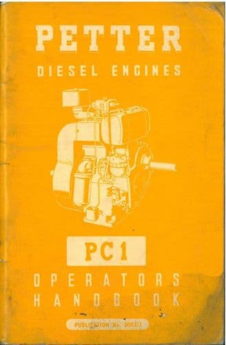 Petter Diesel Engine PC1 Operators Manual
