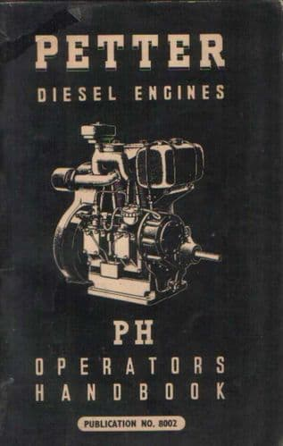 Petter Diesel Engines PH Operators Manual With Parts List
