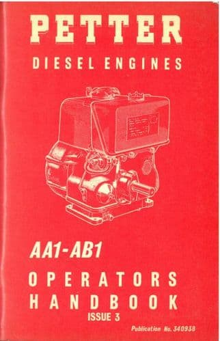 Petter Engines AA1 - AB1 Operators Manual