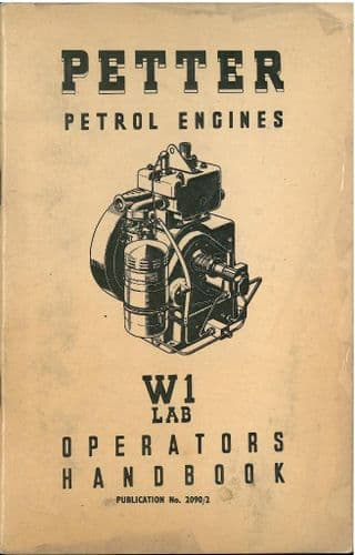 Petter Petrol Engine W1 LAB Operators Manual with Parts List