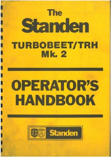 Standen Beet Harvester Turbobeet & TRH Mk.2 Operators Manual with Parts List