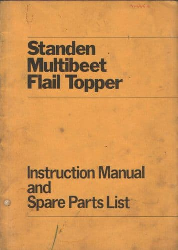 Standen Multibeet Flail Topper Operators Manual with Parts List