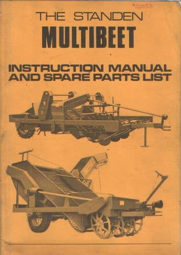 Standen Multibeet Operators Manual with Parts List