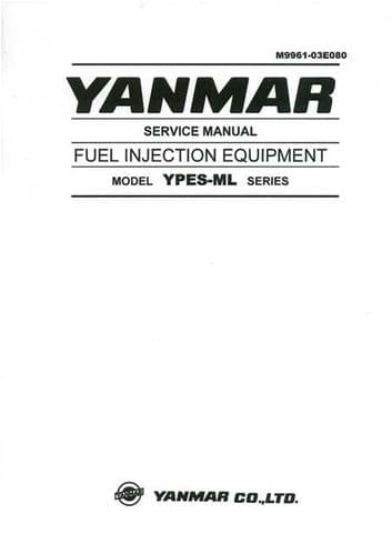 Yanmar Fuel Injection Equipment Model YPES-ML Series Service Manual