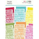 Simple Stories - Color Vibe - Alphas Sticker Book - BRIGHTS