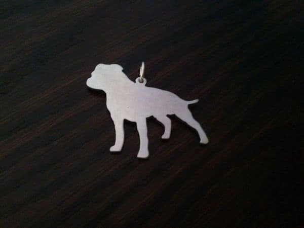 A staffordshire bull terrier Staffy Handmade in the Uk