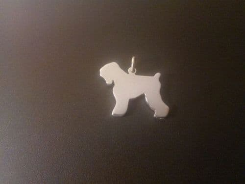 Black Russia Dog cropped Charm silhouette solid sterling silver Handmade