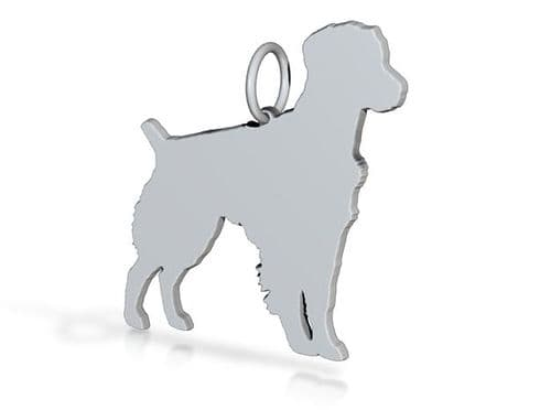 Brittany Spaniel Charm solid sterling silver Handmade in the Uk