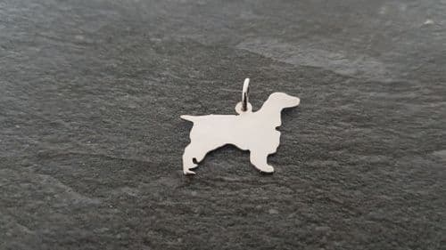 Field Spaniel charm solid sterling silver Handmade in the Uk