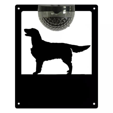 Flatcoat Fence or Gate plate with or without solar light