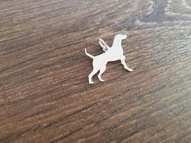 German Shorthaired Pointer charm solid sterling silver Handmade in the Uk