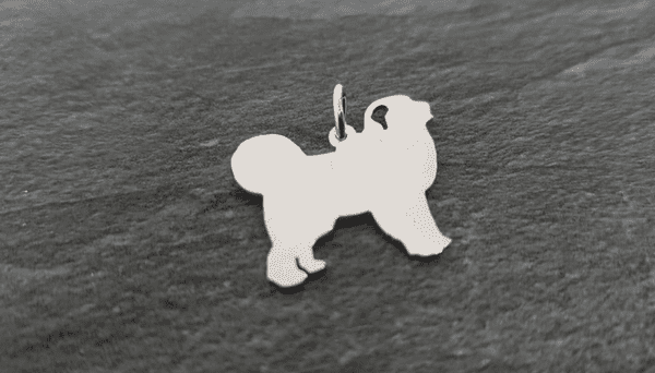 Great Pyrenees Charm silhouette solid sterling silver Handmade in the Uk