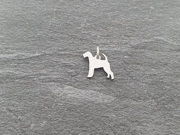 Irish Terrier Dog charm solid sterling silver Handmade in the Uk