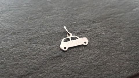 Mini car charm solid sterling silver Handmade in the Uk