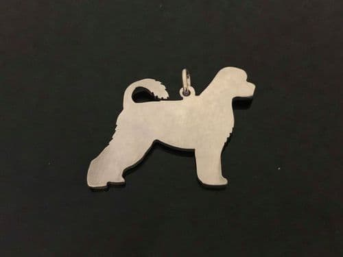Portuguese water dog charm solid sterling silver Handmade in the Uk