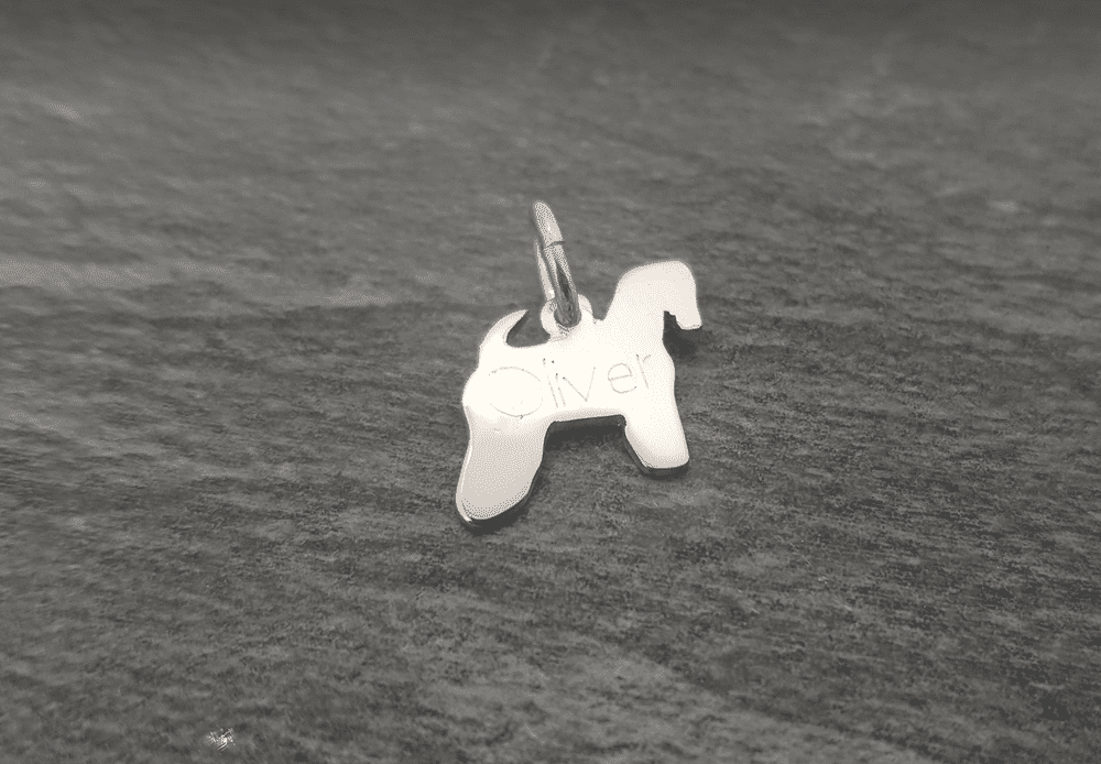 Soft Coated Wheaten Stood charm solid sterling silver Handmade in the Uk