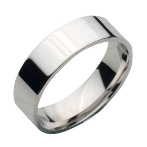 Solid Sterling Silver 925 D Shape 10mm Plain Wedding Ring Band