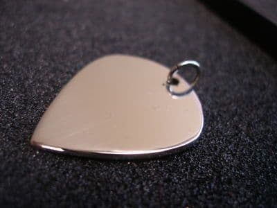 sterling silver Jazz 3 plectrum pendant 0.7mm thick