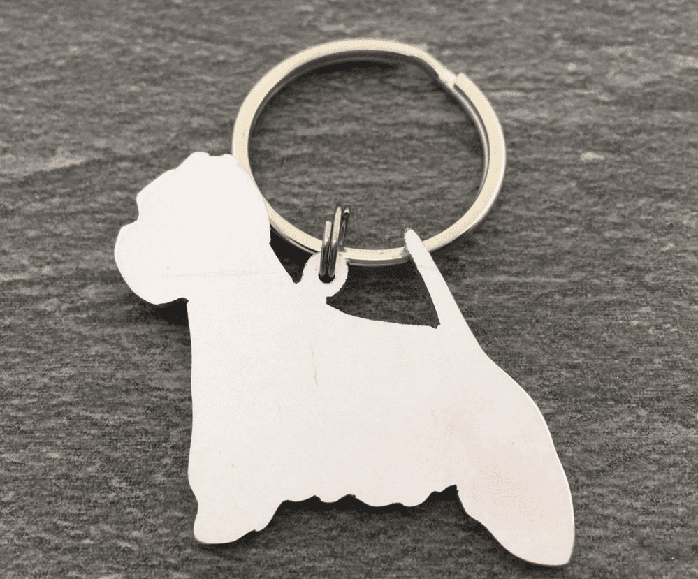 Westie keyring 3.5cm Handcrafted made by saw piercing