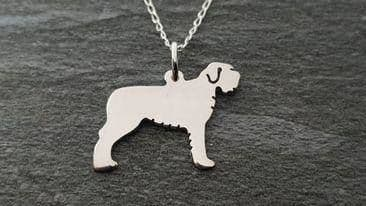 Wirehaired Pointing Griffon / Korthals Griffon pendant sterling silver handmade by saw piercing