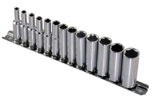 Britool Hallmark SDHMSET13 1/4 Drive Deep Socket Set 4  14mm
