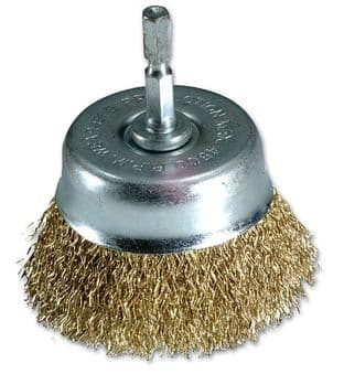 Laser 3147 Cup Brush with Quick Chuck End - 75mm