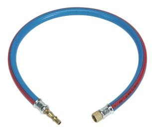 """Sealey AH2R/38 Air Leader Hose 600mm x Ø10mm with Tailpiece & 1/4""""BSP Union"""