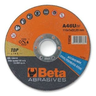Beta 110341 1.6 115mm A46U Abrasive Steel & Stainless Steel Cutting Discs