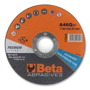 Beta 11045 1.6 115mm A46Q Abrasive Steel & Stainless Steel Cutting Discs