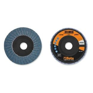 Beta 11202A P60 Double Flap Discs With Zirconia Abrasive Cloth