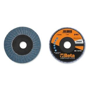 Beta 11204A P40 Single Flap Discs With Zirconia Abrasive Cloth