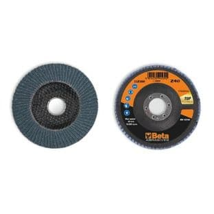 Beta 11216A P60 Single Flap Discs With Zirconia Abrasive Cloth