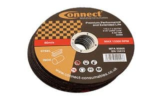Connect 32251 Connect 115mm x 1.0mm Extra Thin Discs Tin 10
