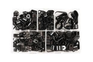 Connect 35008 Assorted Nylon P Clips - Box 160 Pieces