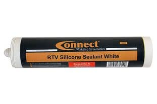Connect 35320 RTV Silicone Sealant White 300ml Cartridge Box  12