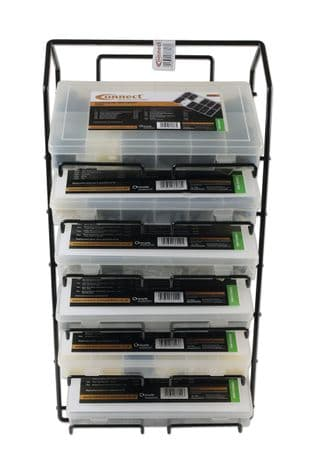 Connect 36816 Assorted Box Rack complete with Trim Clips