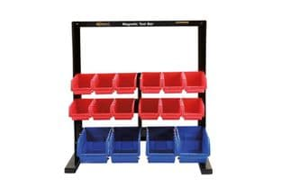 Connect 36996 16 Storage Bin System c/w Magnetic Bar For Tool Storage
