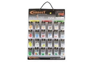 Connect 37130 LED Blade Fuse Wall Rack Complete with 144 Blisters