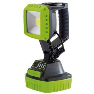 Draper DR90033 10w COB LED Rechargeable Worklight (Green)
