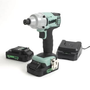 "Kielder KWT-005-07 1/4"" Drive 200Nm Brushless Impact Driver With 2 2Ah Batteries"