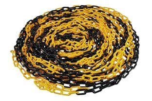 Laser 61238 Plastic 6mm Chain 25m (Black/Yellow)
