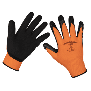 Sealey 9140L/12 Foam Latex Gloves (Large) - Pack of 12 Pairs