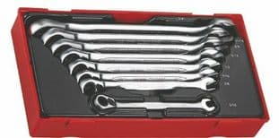 Teng TT6508RAF 8 Piece Imperial Ratchet Spanner Set