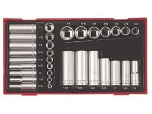 "Teng TTAF32 1/4"" & 3/8"" Drive Imperial Socket Set"