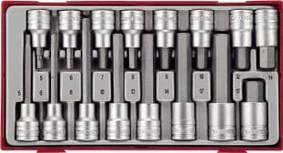 Teng TTHEX16 16 Piece 1/2 Drive Hex Set