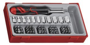 Teng TTMDRT64 64 Piece Angled Ratcheting Bit Driver Set