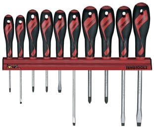 Teng WRMD10N 10 Piece Screwdriver Wall Rack