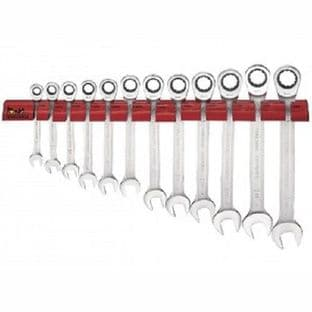 Teng WRSP12LMP 12 Piece - Extra Long Spanner Wall Rack