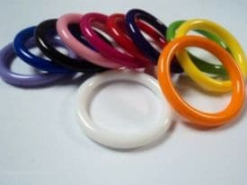 A100-30mm LARGE PLASTIC BEAD RINGS JEWELLERY MAKING - SELECTION OF COLOURS- price is for 2 rings