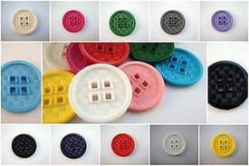 B1006-20mm RARE FLAT CLOWN 4 SQUARE HOLE ITALIAN PLASTIC BUTTONS - price for 6 buttons